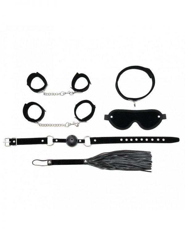 PleasureAndFun – Soft bondage starter set met klittenband (6-delig)