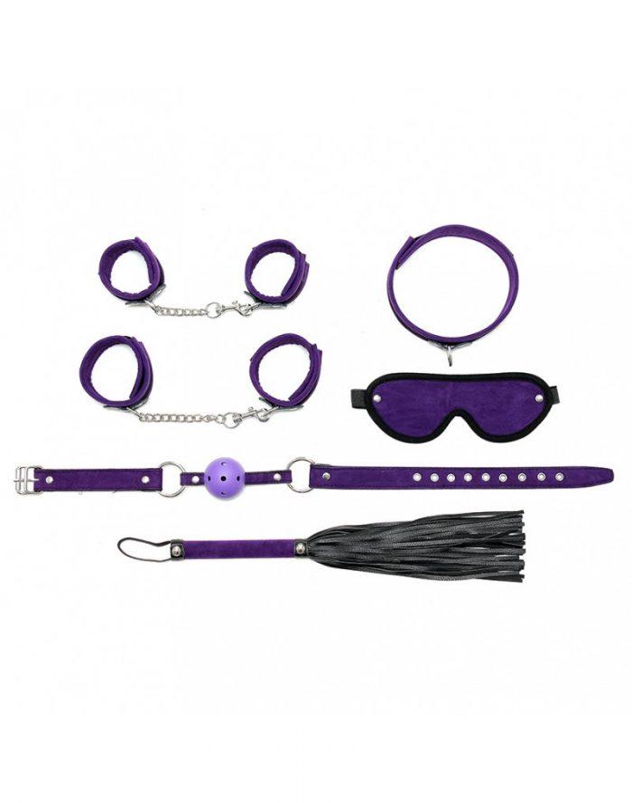 PleasureAndFun - Soft bondage starter set met klittenband (6-delig)