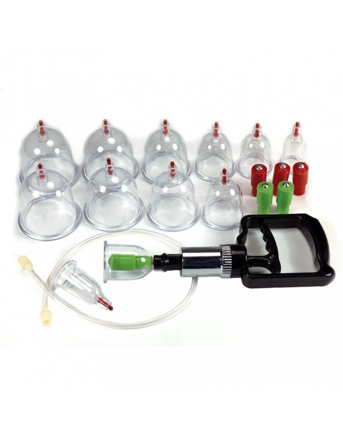 PleasureAndFun - Cupping set compleet met 12 cups