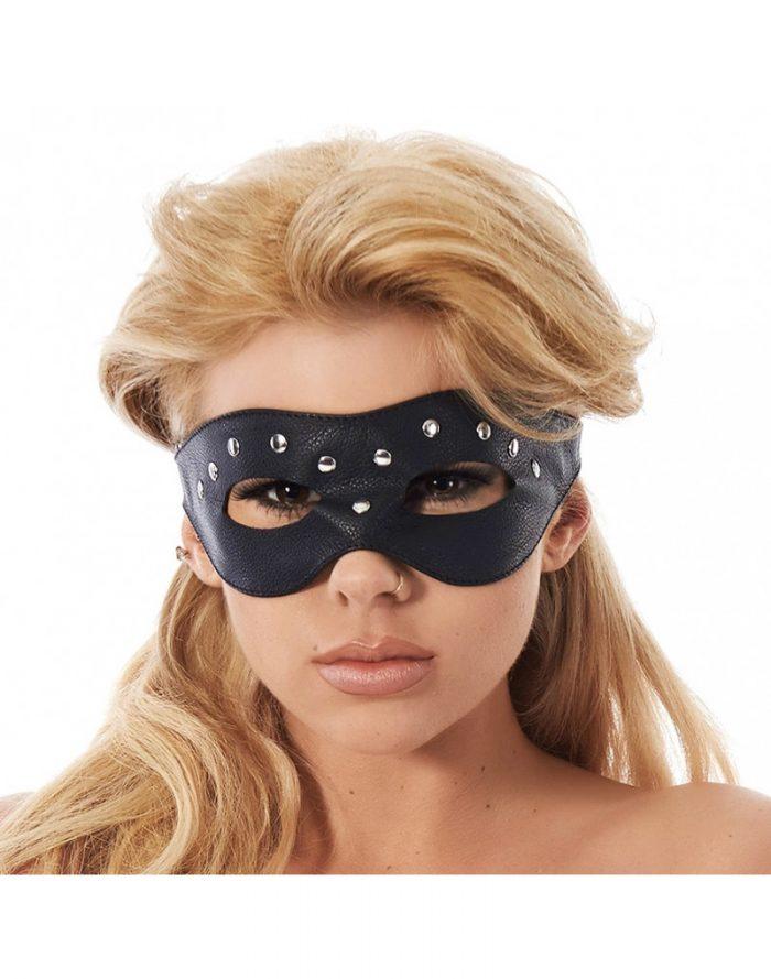 PleasureAndFun - Open oogmasker versierd met nieten