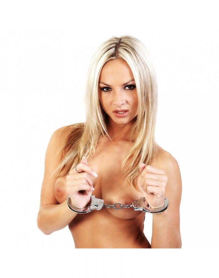PleasureAndFun - Metalen politie handboeien