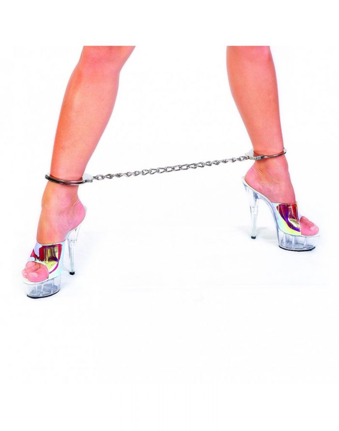 PleasureAndFun - Metal politie voetboeien met ketting