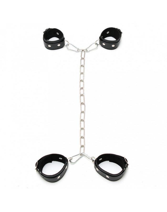 PleasureAndFun - Arm - voetboeien combinatie met ketting