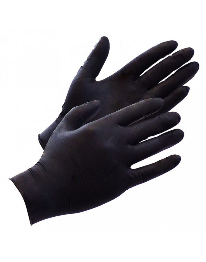 Black Ninja Latex wegwerphandschoenen (100 st.)