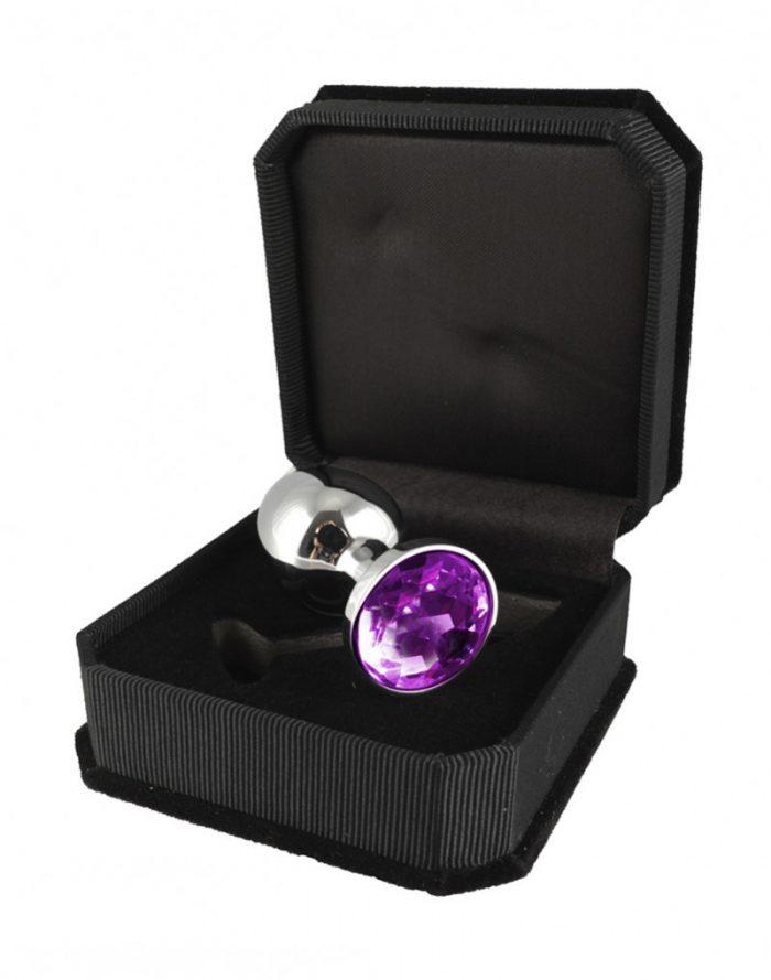 PleasureAndFun - Buttplug KLEIN met kristal (unisex)