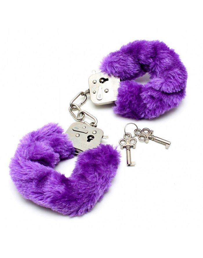 PleasureAndFun - Politie Handboeien met paars bont