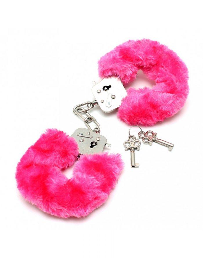 PleasureAndFun - Politie Handboeien met roze bont