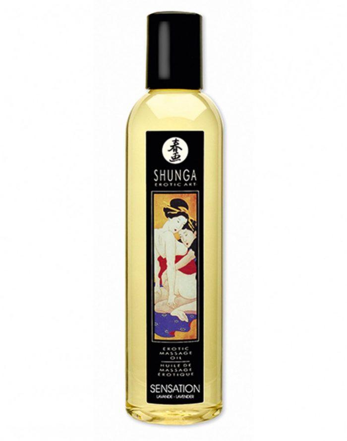 Shunga - Massage olie - Sensation Lavender 250 ml.
