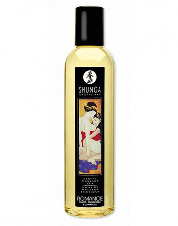 Shunga - Massage olie - Romance Strawberry Wine 250 ml.
