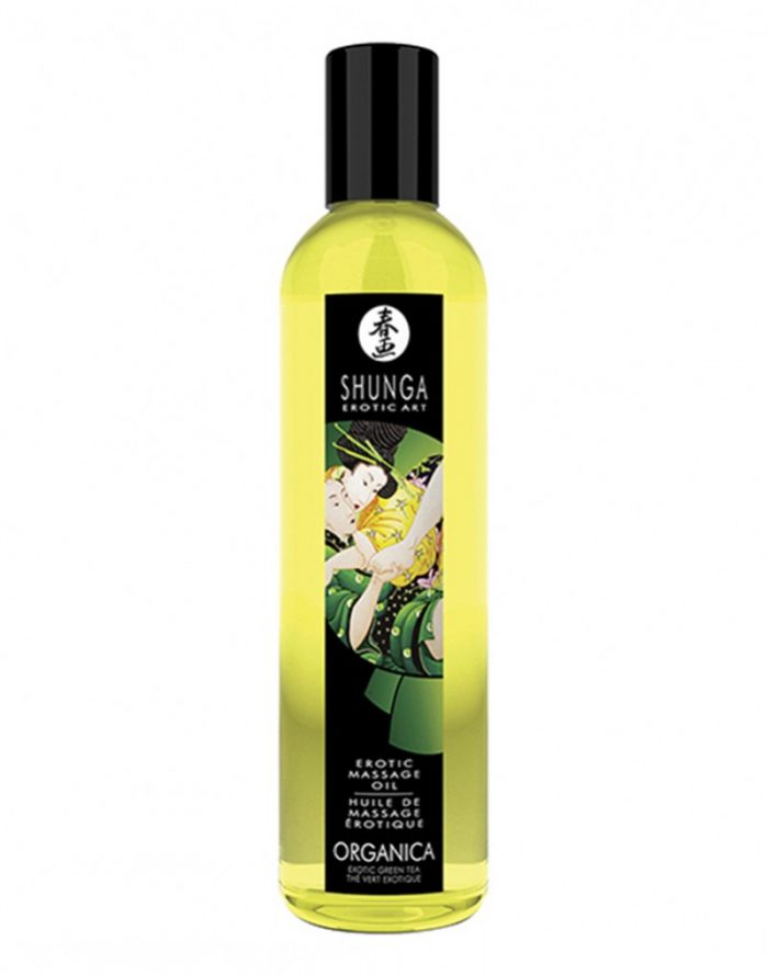 Shunga - Massage olie Organica - Green Tea 250 ml.