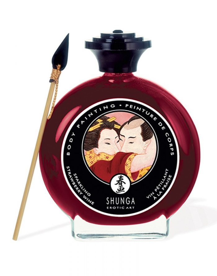 Shunga - Body Paint - Strawberry Wine 100 ml.