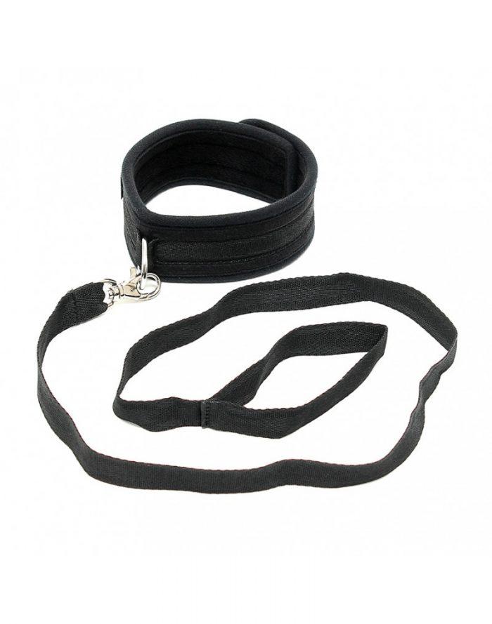 PleasureAndFun - Zachte halsband met leidsel