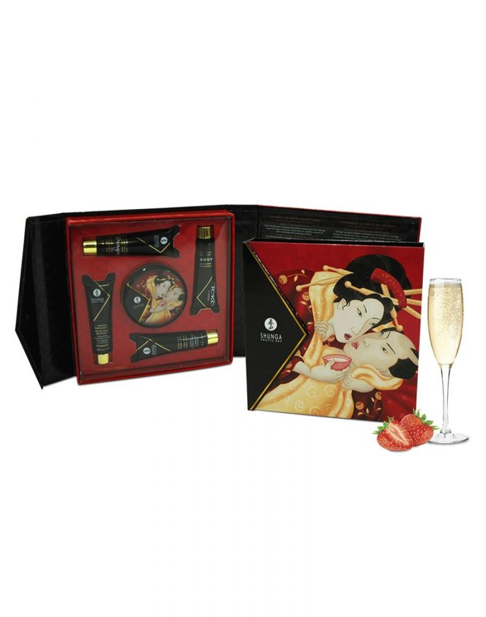 Shunga - Geisha Secret Kit Sparkling Wine Strawberry