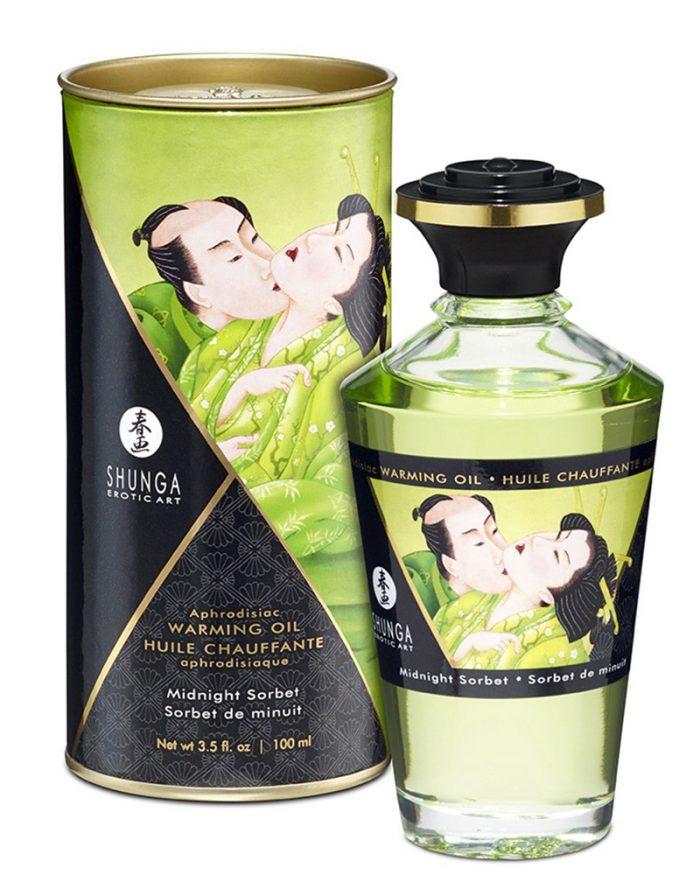Shunga - Aphrodisiac Warming Oil - Midnight Sorbet 100 ml.