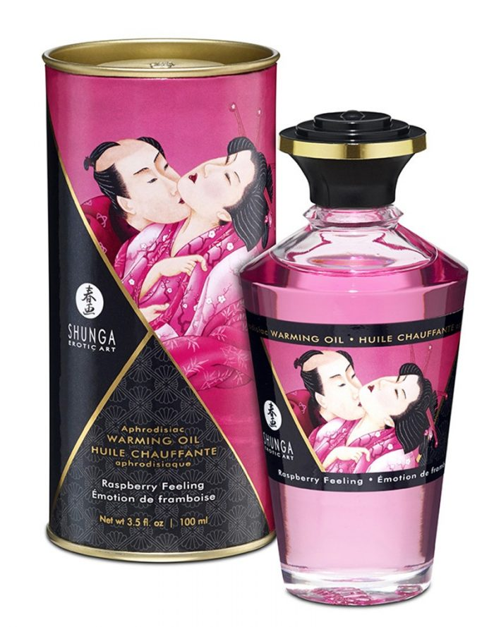 Shunga - Aphrodisiac Warming Oil - Raspberry 100 ml