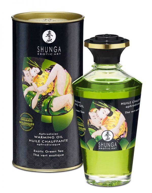 Shunga – Aphrodisiac Warming Oil – Green Tea 100 ml.