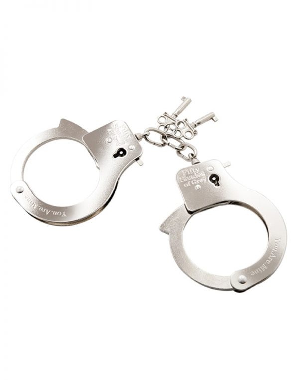 You are Mine - FSoG Metal Handcuffs