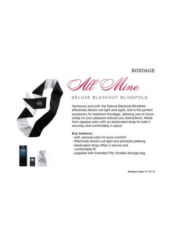 All Mine – FSoG Satin Deluxe Blindfold