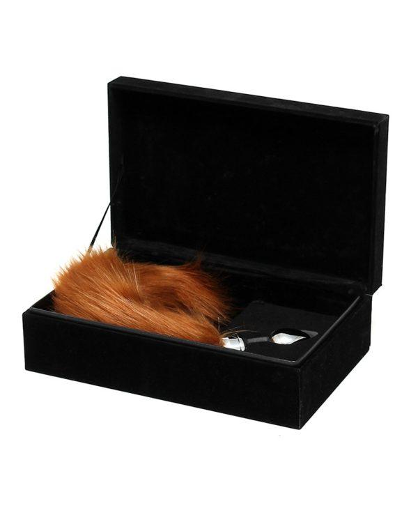 PleasureAndFun - Buttplug met bruine staart (unisex)