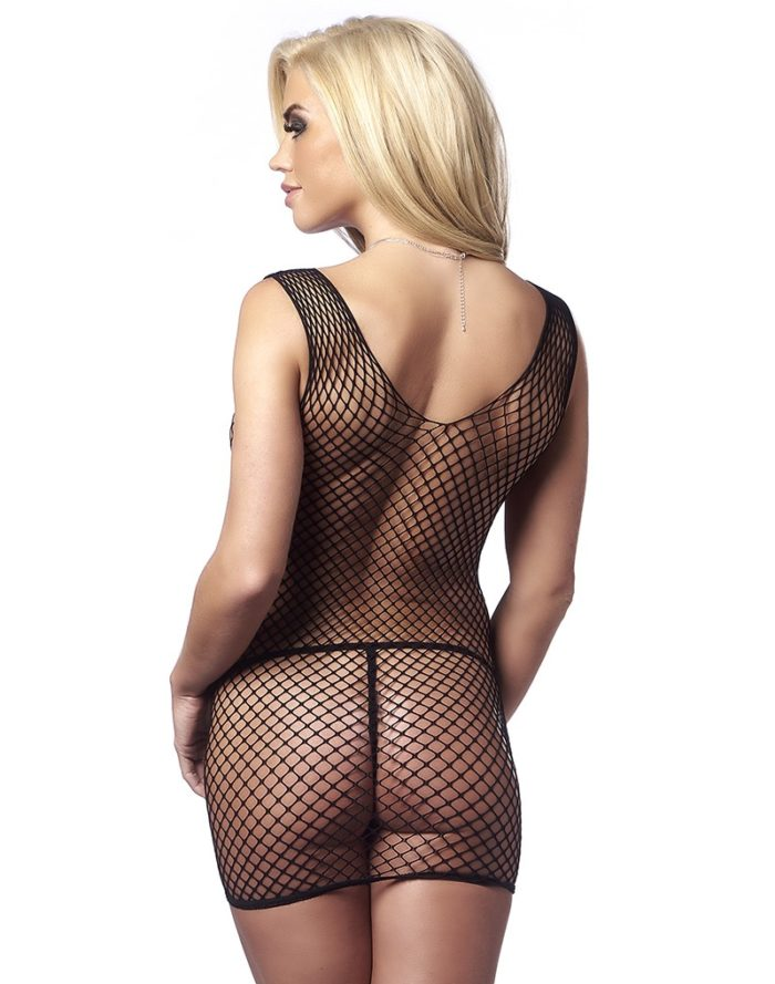 PleasureAndFun - Fishnet Dress with G-String