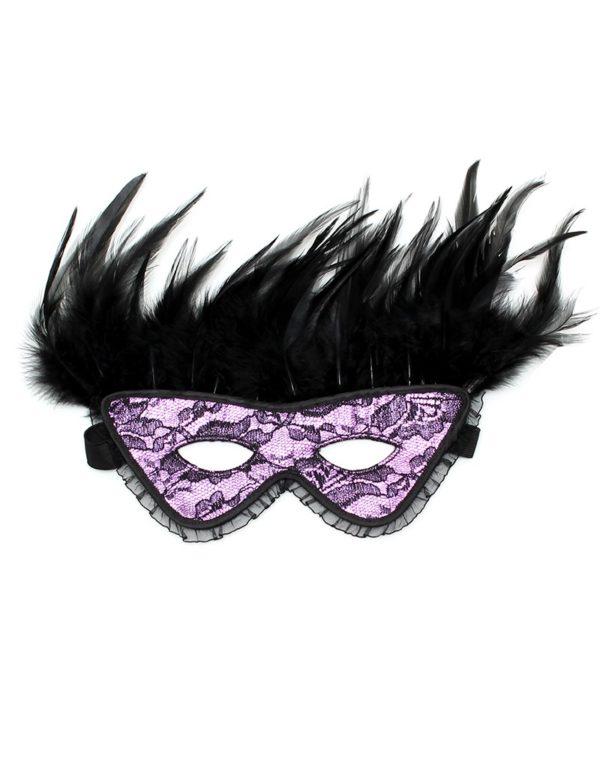 PleasureAndFun - Luxe oogmasker met veren