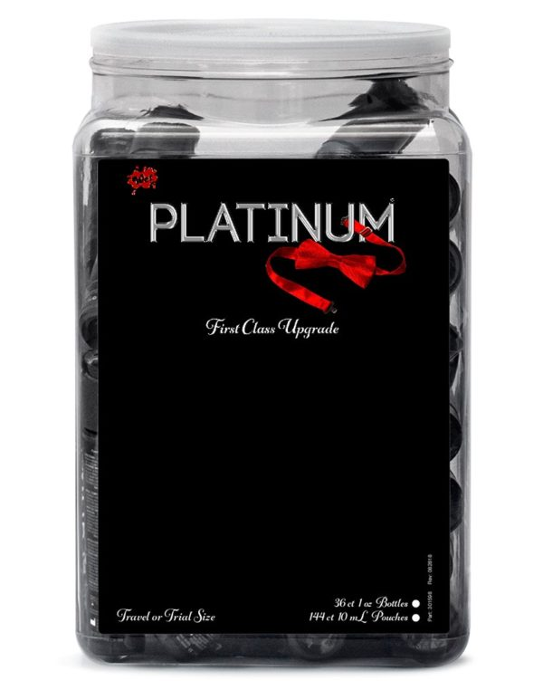 WET Platinum Silicone Lubricant 36 x 30ml. in Counter Bowl display