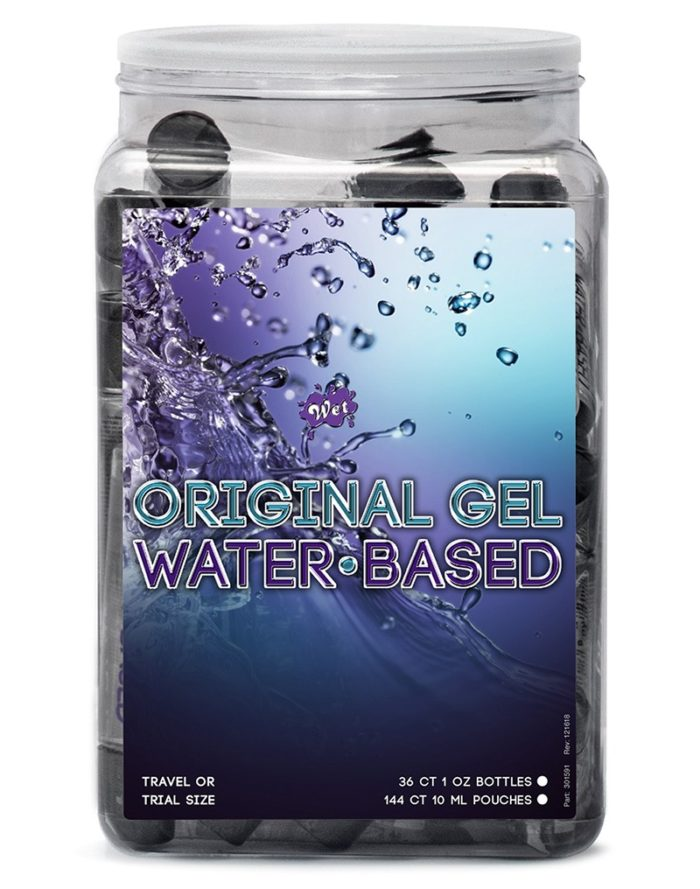 WET Original Water based Gel 36 x 30ml. in Counter Bowl display