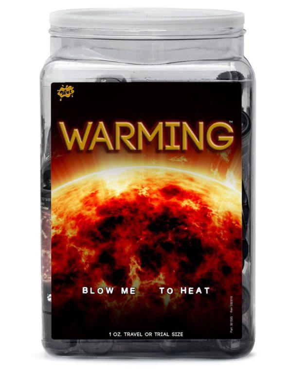 WET Warming 36 x 30ml. Counter Bowl Display