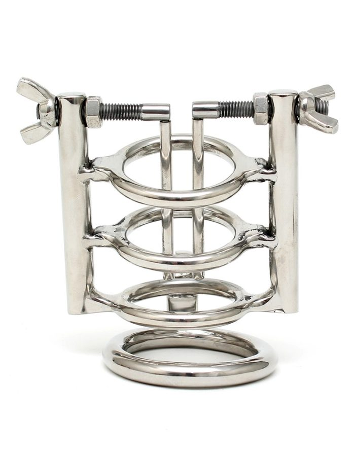 PleasureAndFun - Urethral Stretcher with Cockring and padlock