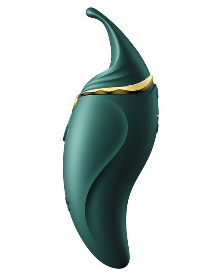 ZALO Hero Jewel Green - Clitoral PulseWave Massager