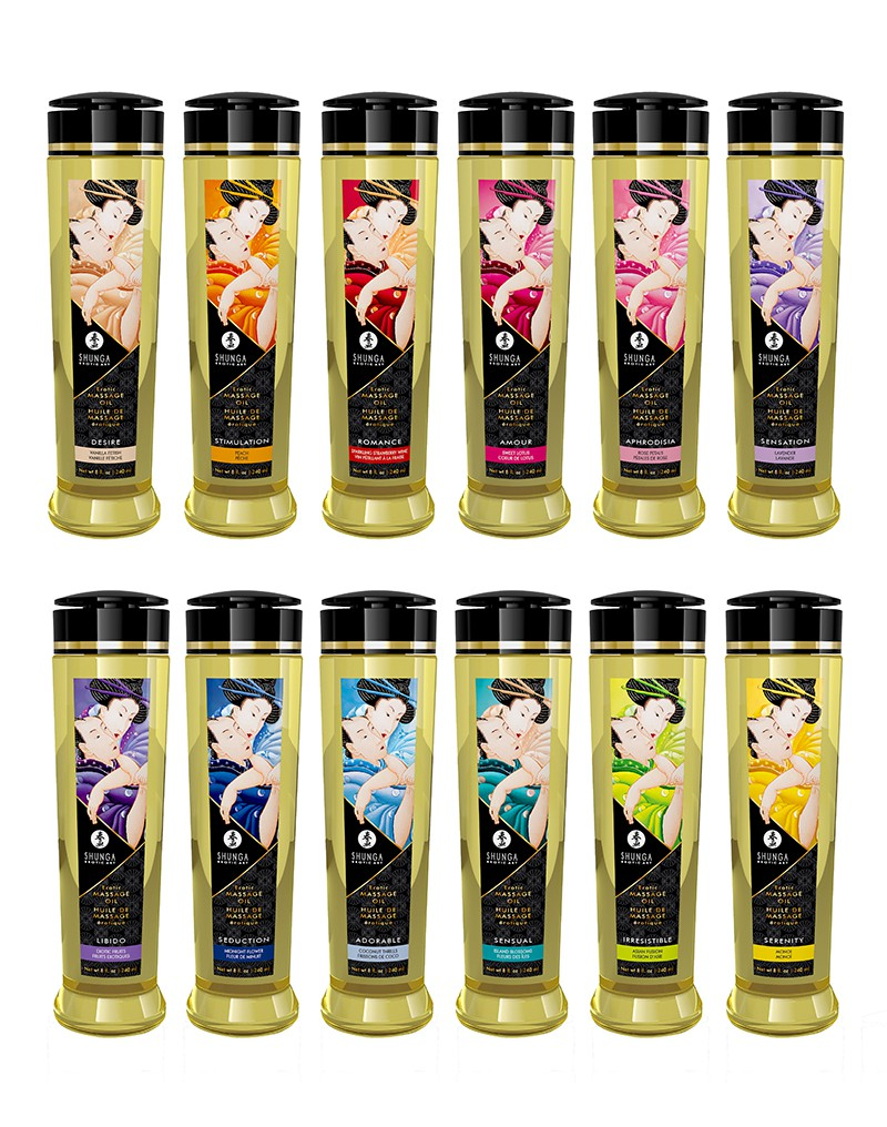 Shunga - Massage Olie - Sensual Island Flowers - 240 ml